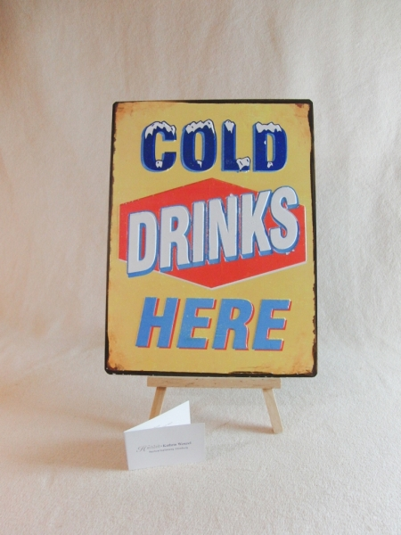 Schild Cold drinks - Candybar.de