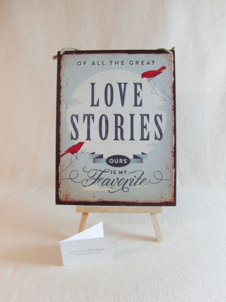 Schild Love Stories - Candybar.de