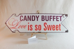 Schild Love is so sweet -Candywagen.de