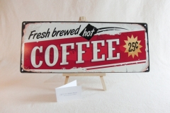 Schild fresh Coffee - Candybar.de